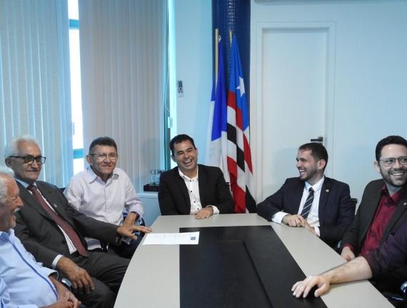 Eric Costa recebe deputados, prefeitos e lideranças políticas na Famem