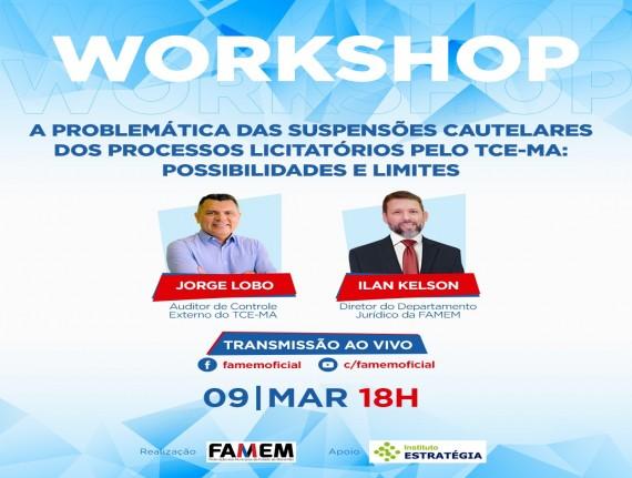 Famem e TCE promovem live sobre processos licitatórios