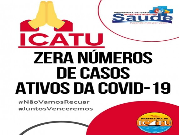 Município de Icatu zera casos ativos de coronavírus.