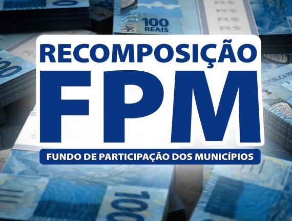 Municípios recebem na próxima terça-feira (7) a recomposição do FPM referente à junho; confira os valores