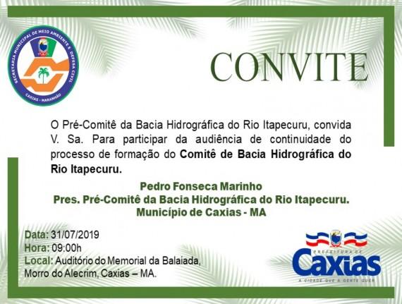 Audiência Pública de Formação do COMITÊ DE BACIA HIDROGRÁFICA DO RIO ITAPECURU