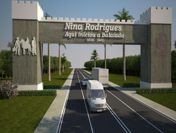 Prefeitura de Nina Rodrigues inicia construção do Portal da Cidade