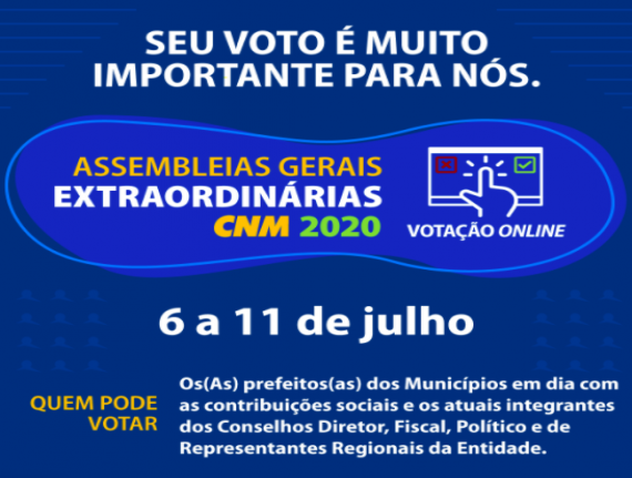 FAMEM convoca prefeitos para reunião virtual com CNM sobre assembleias gerais extraordinárias