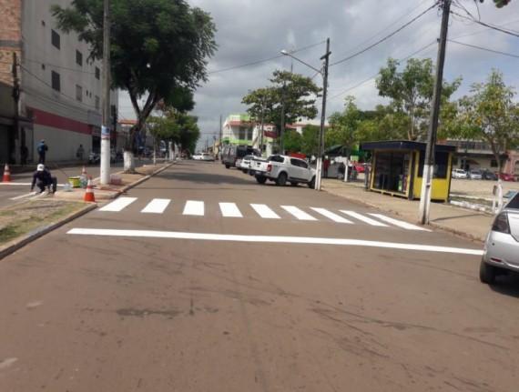 Prefeitura de Pinheiro investe na sinalzação de ruas e avenidas