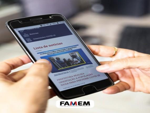 Famem suspenderá divulgação de notícias municipais no site oficial a partir do dia 15