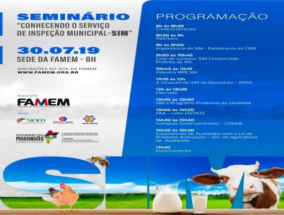 SEMINÁRIO CONHECENDO O SERVIÇO DE INSPEÇÃO MUNICIPAL – SIM
