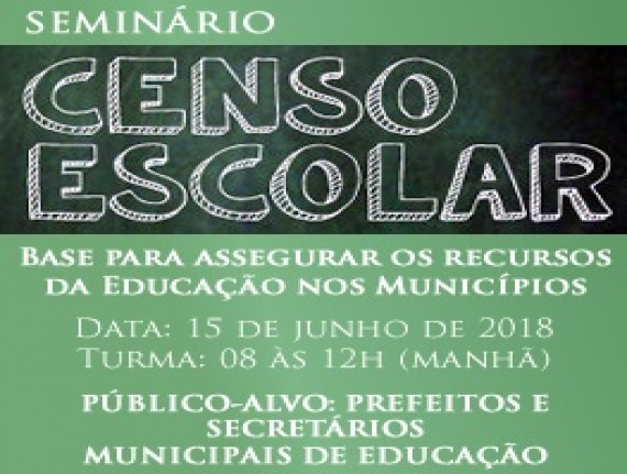 A FAMEM e SEDUC promoverão Encontro Formativo do Censo Escolar da Educação Básica 2018