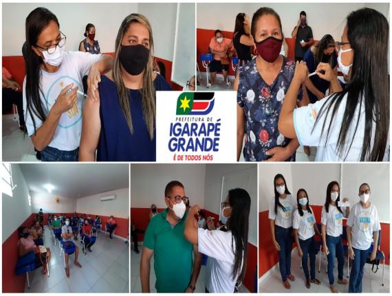 Município de Igarapé Grande vacina profissionais da educação de 45 a 59 anos em nova etapa