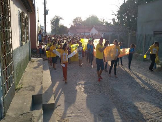 Setembro Amarelo: Prefeitura de Água Doce do Maranhão realizou Caminhada pela Valorização da Vida