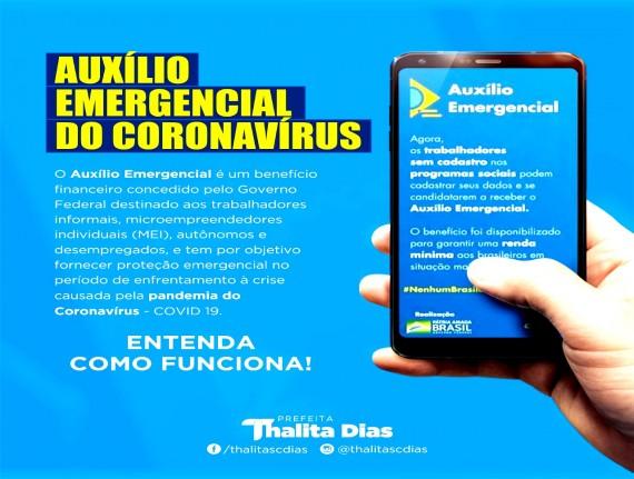 AUXÍLIO EMERGENCIAL DO CORONAVÍRUS