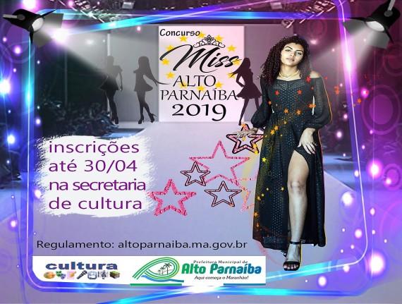 """Vem aí mais uma edição do concurso """"Miss Alto Parnaíba"""""""