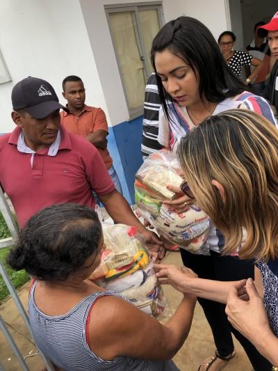 Psicóloga do CRAS, Thaymara Amorim participa a ação