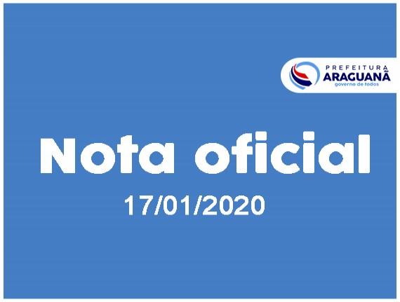 NOTA OFICIAL - 001-2020