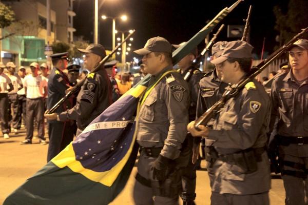 Policiais Militares na solenidade de comemoração dos 181 anos da corporação