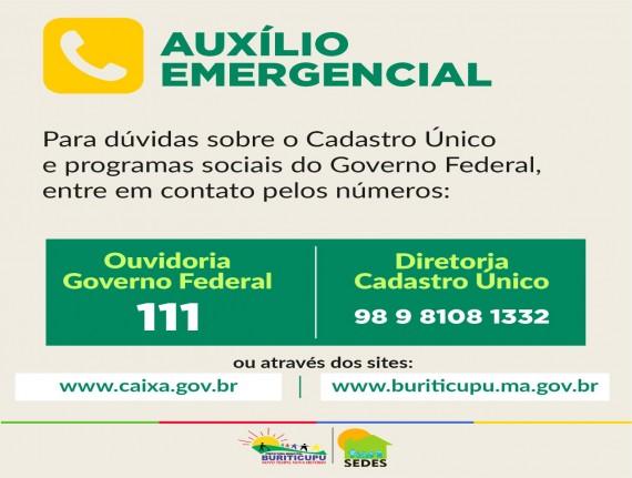 Prefeitura de Buriticupu orienta sobre auxílio emergencial liberado pelo Governo Federal em decorrência…