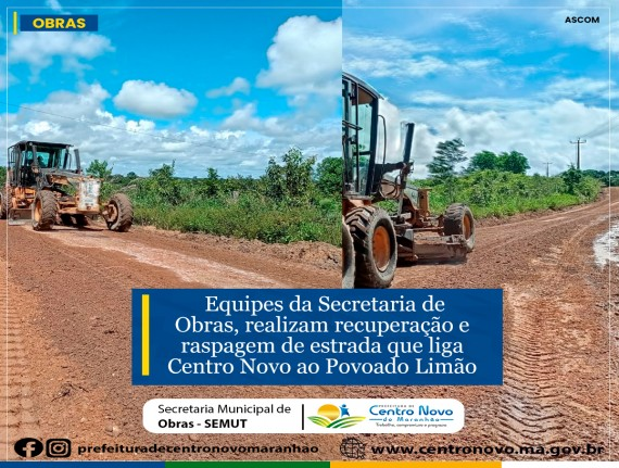 Secretaria de Obras realizou serviços de patrolagem na estrada…