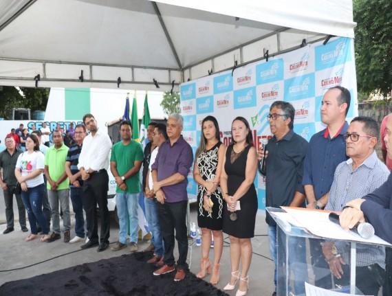 PREFEITO AMÉRICO DE SOUSA REALIZA ENTREGA DA PRAÇA ALFREDO VIEIRA…