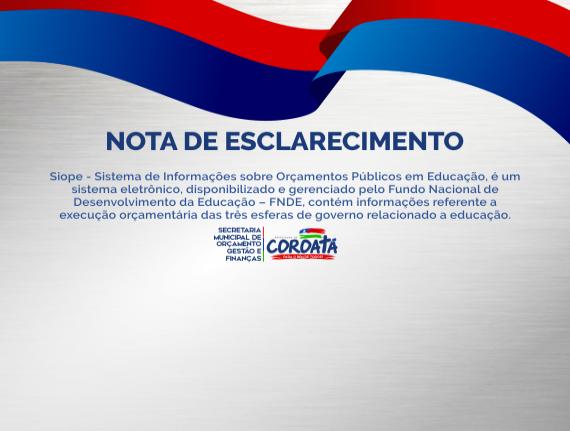 Nota de Esclarecimeto - Secretaria Municipal de Orçamento Gestão…