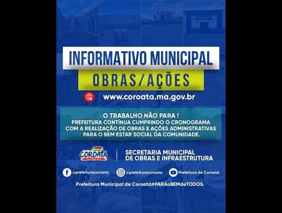 A prefeitura de Coroatá continua realizando em várias etapas…