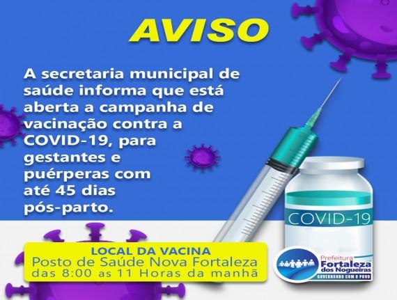 Campanha de Vacinação contra a Covid-19: Gestantes e Puérperas