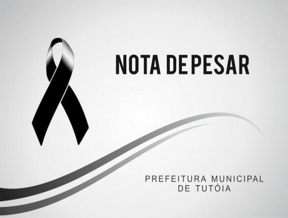 Nota de pesar pelo falecimento do Sr. Teotônio Pereira Ramos
