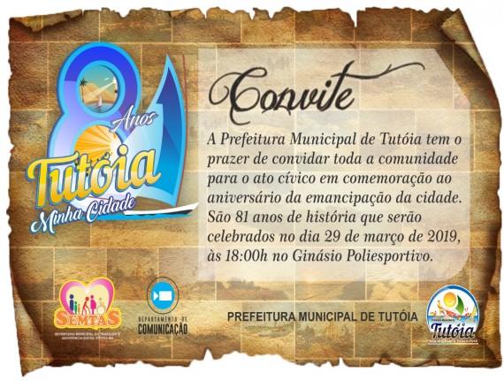 A Prefeitura de Tutóia convida a todos para o ato cívico em…