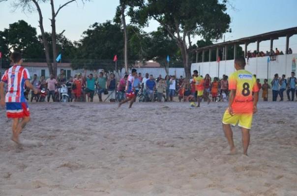 Partida de inauguração da Arena de Beach Soccer de Urbano Santos