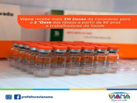 Viana recebe doses da vacina contra o Covid-19