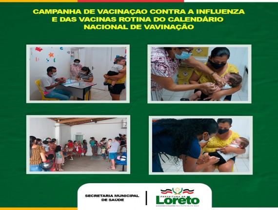 começou a vacinação contra a Influenza