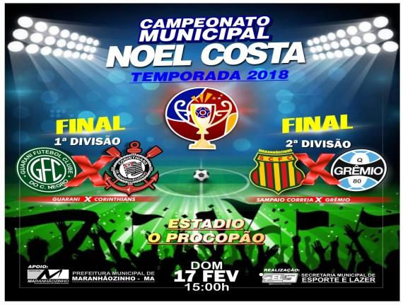 Final do Campeonato Noel Costa acontece neste Domingo. Participe!…
