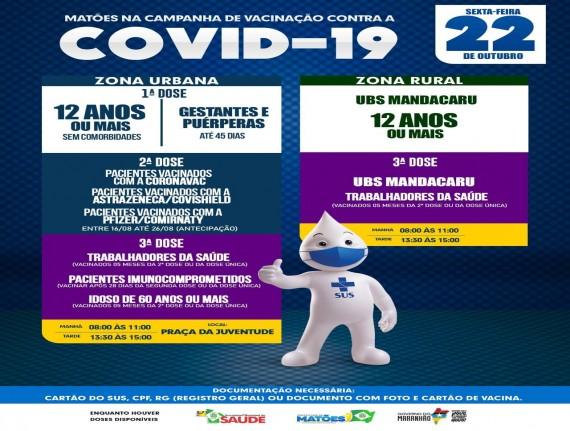 PROGRAMA DE VACINAÇÃO 22-10-2021