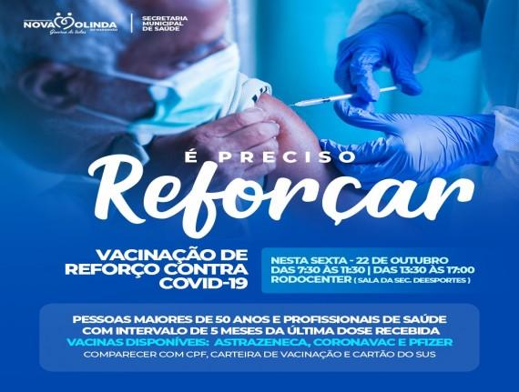 VACINAÇÃO DE REFORÇO CONTRA COVID 19