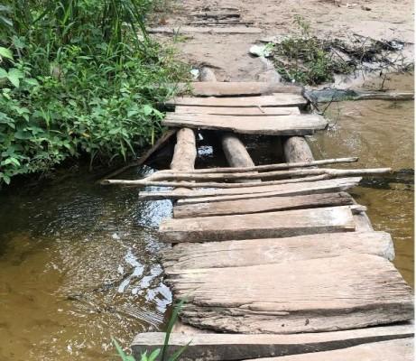 Ponte do Povoado Boa Esperança antes da reforma