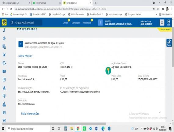 SAAE de Raposa começa a receber pagamentos via Pix