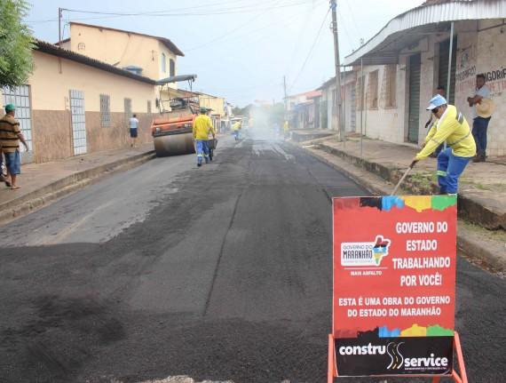 Mais Asfalto requalifica ruas e avenidas de Santa Inês