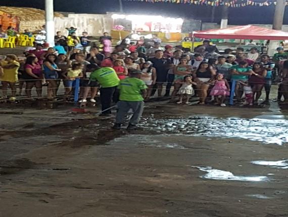 Profissionais garantiram limpeza total no Parque da Raposa