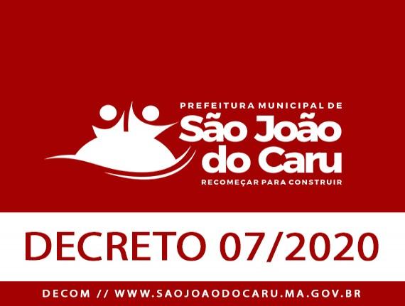 DECRETO Nº 07, DE 08 DE ABRIL DE 2020 - Suspensão temporária…