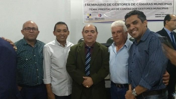 Vereadores com o Presidente da Câmara de São Luis, Astro de Ogum